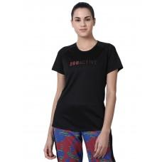2GO Women Fashion T-shirt Bold  Black (EL-WTS474-A9)