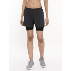 2GO Women Running Shorts Charcoal (EL-WSH443-A9)