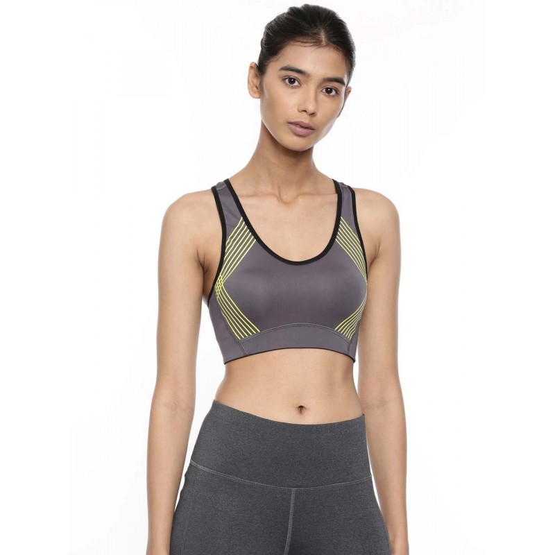 2GO Women Round Neck Running Sports Bra Shark Grey (EL-WSB325-A9)
