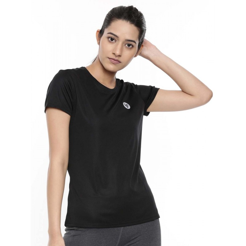 2GO Women Running T-Shirt Bold Black (EL-WTS337-A9)