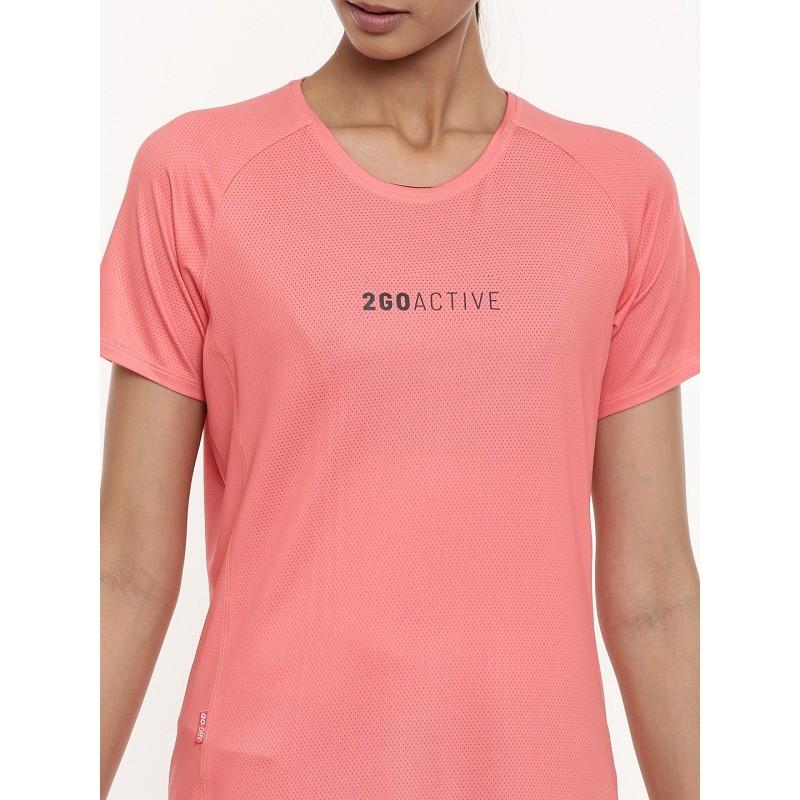 2GO Women Running T-shirt Living Coral (EL-WTS436-A9)