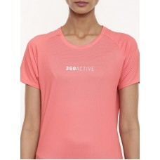 2GO Women Running T-shirt Living Coral ( EL-WTS452-A9)