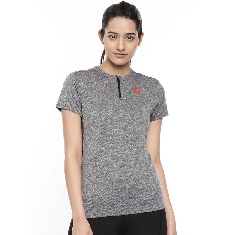 2GO Women Running T-Shirt Shark Grey (EL-WTS314-A9)