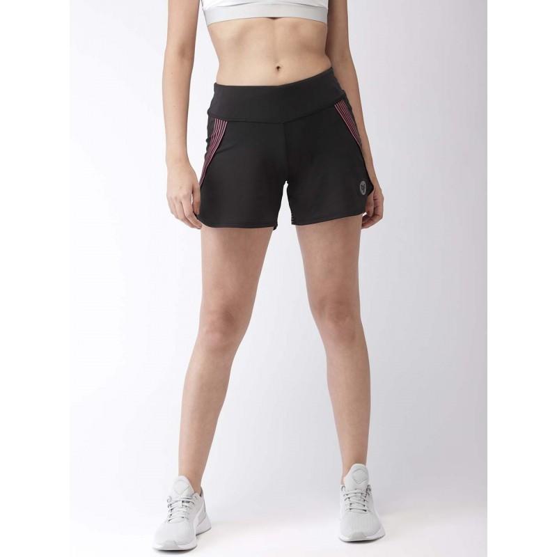 2GO Women Running Shorts Bold Black  (EL-WSH394-S9)