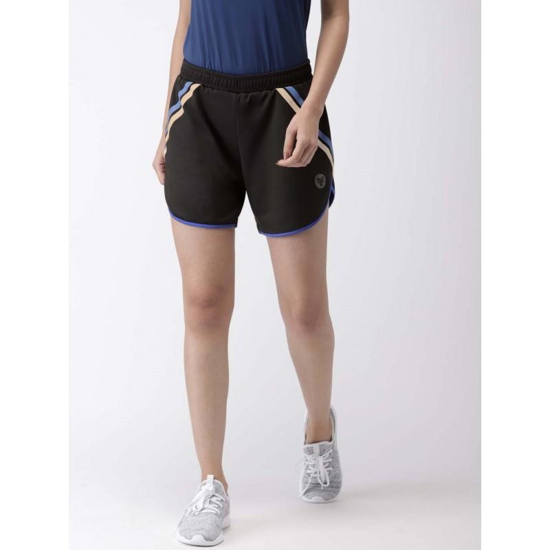 2GO Women Sports Shorts Bold Black  (EL-WSH395-S9)