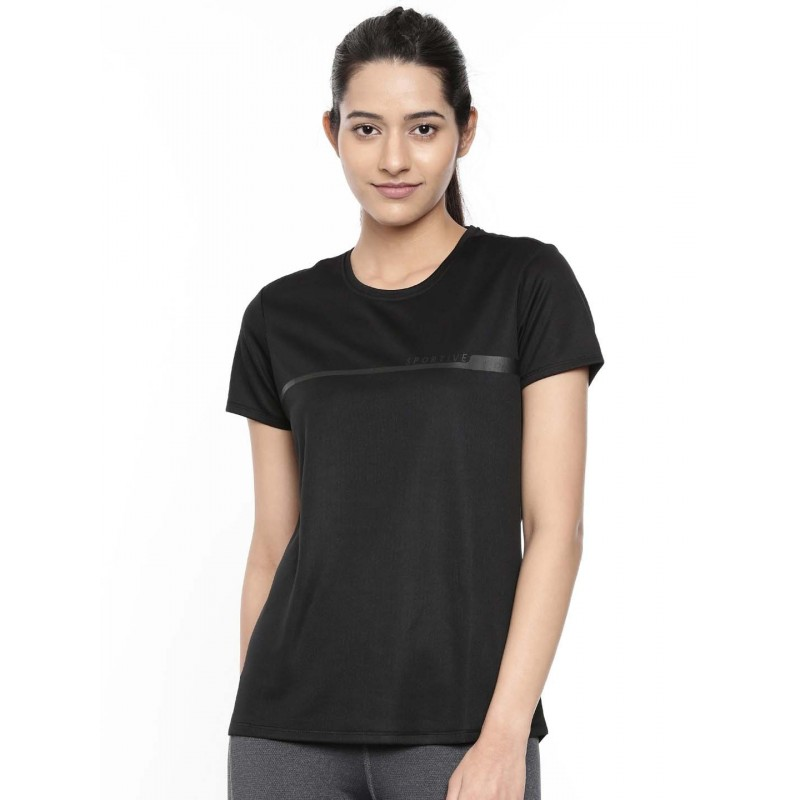 2GO Women Sports T-Shirt Bold Black (EL-WTS417-A9)