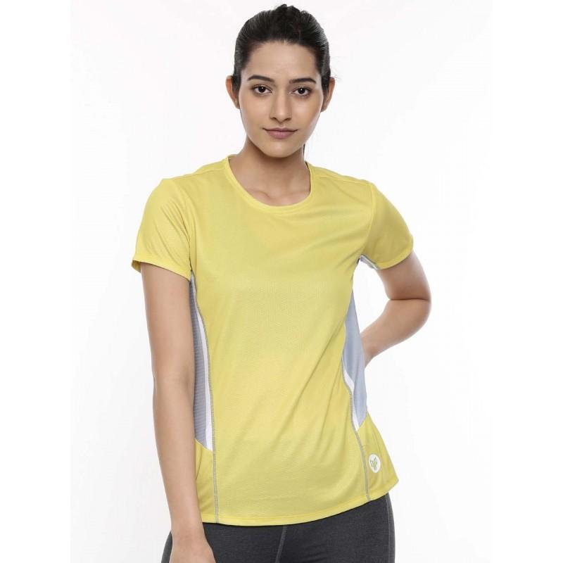 2GO Women Training T-Shirt Yellow (EL-WTS340-A9)