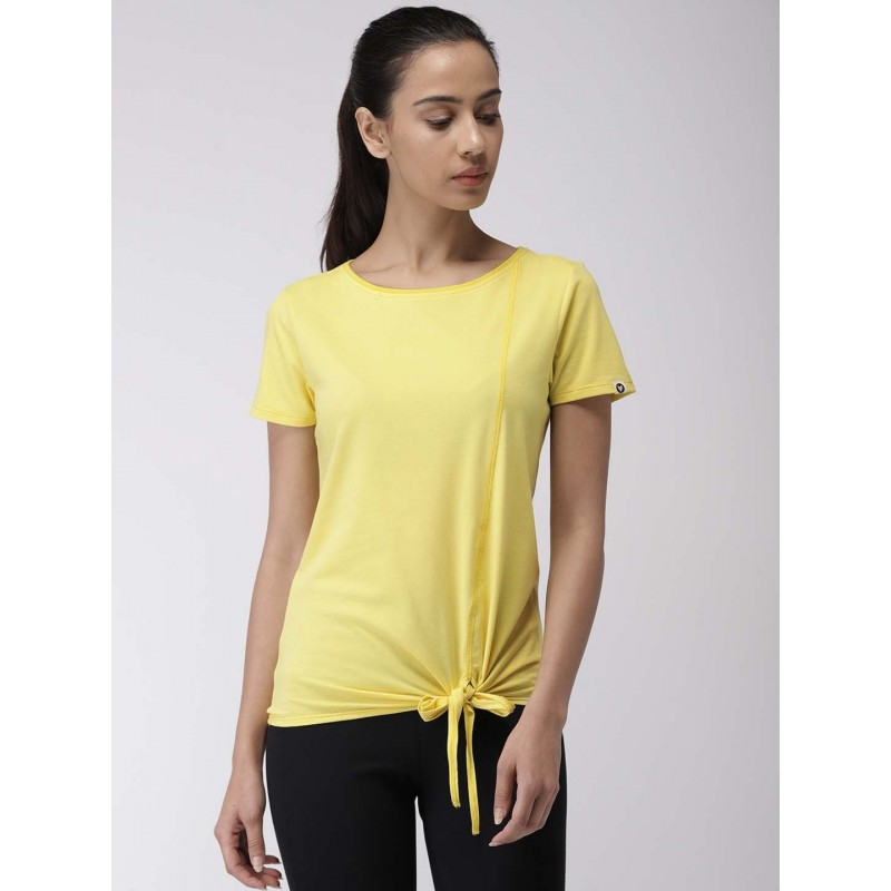 2GO Women Yoga T-Shirt Corn Yellow (EL-WTS348-S9)