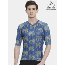 Audax India PBP Mens Club Fit Cycling Jersey Indigo (Ships By 11th July 2019)