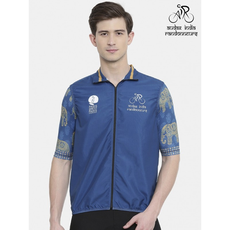 Audax India PBP Mens Cycling Gilet Indigo (Ships By 11th July 2019)