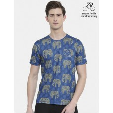 Audax India PBP Mens Cycling T-shirt Indigo