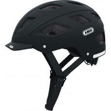 Abus Hyban+ Clear Visor Bike Helmet Black,M