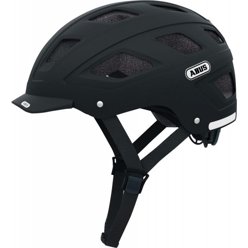 Abus Hyban+ Clear Visor Bike Helmet Black,M