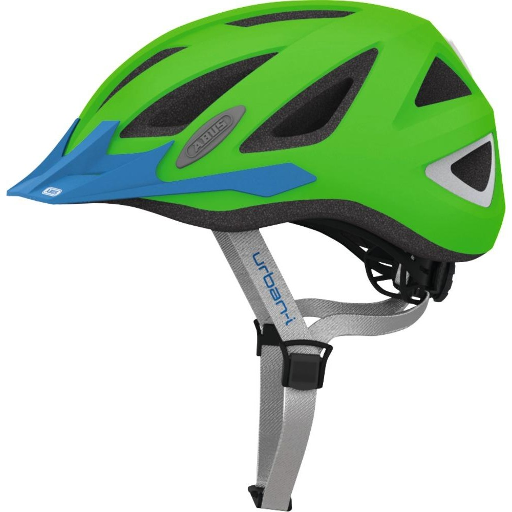 buy abus urban i 2 0 bike helmet neon green m online in. Black Bedroom Furniture Sets. Home Design Ideas