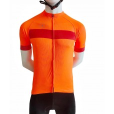 Actuo Neo Club Fit Cycling Jersey Orange