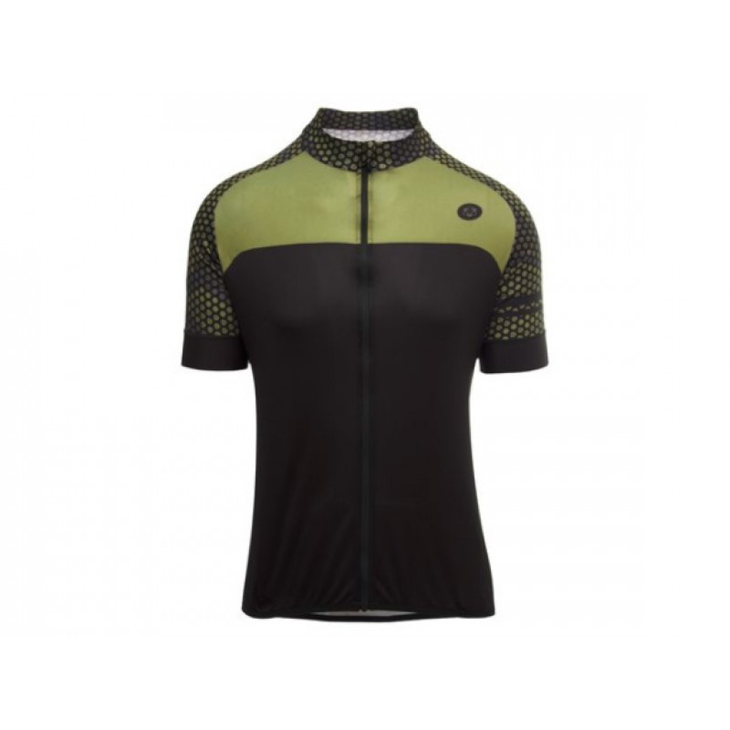 AGU Hexa Camo SS Trend Men Cycling Jersey Army Green