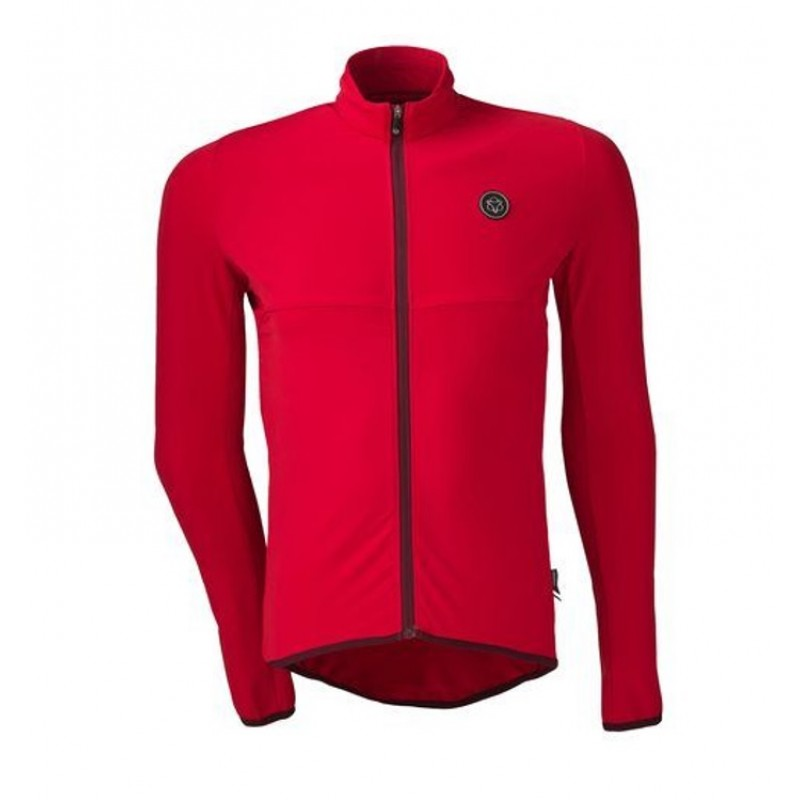AGU LS Essential Thermo Men Cycling Jersey Red