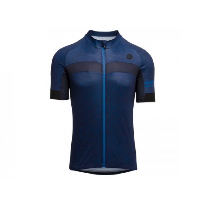 AGU SS Essential Men Jersey Cycling Melange Deep Blue