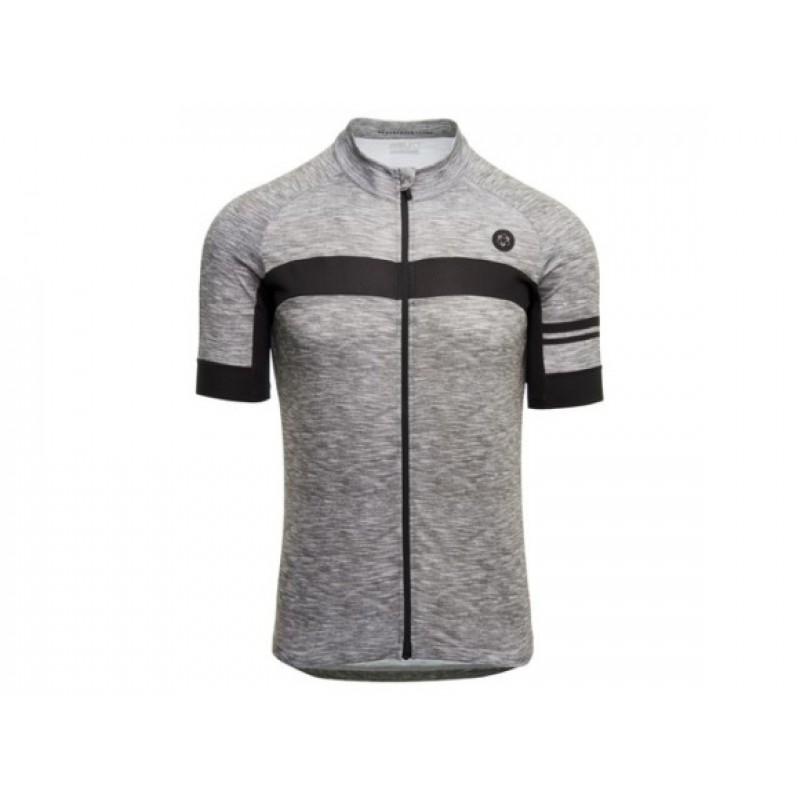 AGU SS Essential Men Jersey Cycling Melange Dove Grey