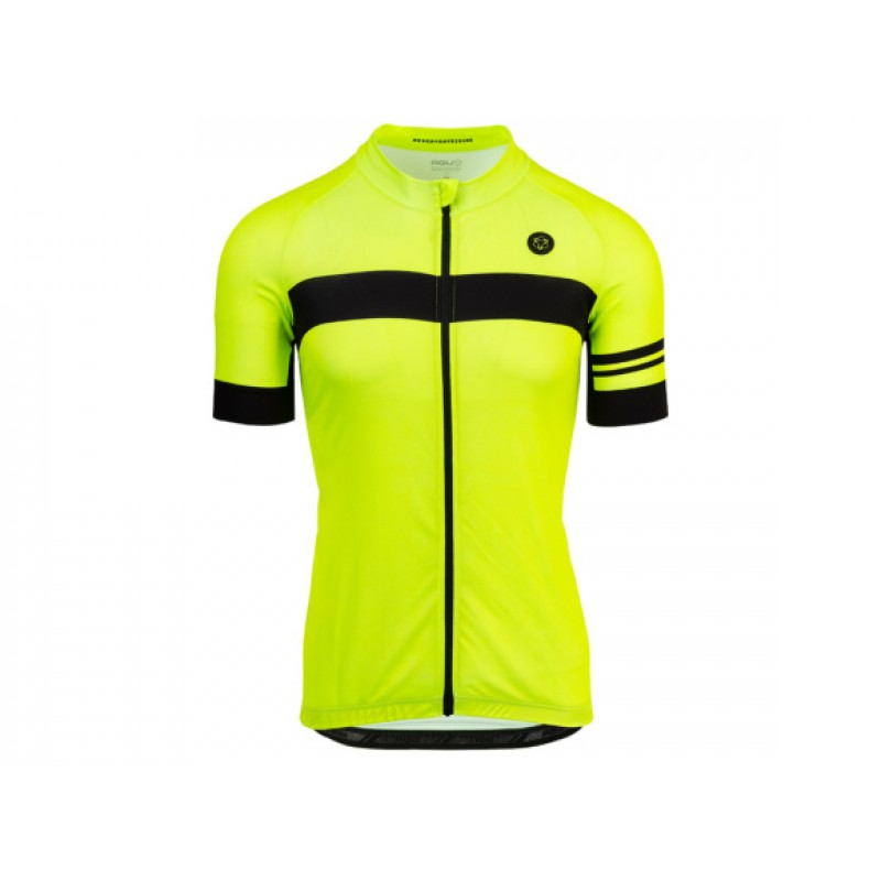 AGU SS Essential Source Men Cycling  Jersey Neon Yellow Black