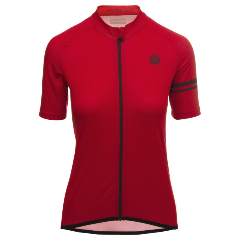 AGU SS Essential Women Cycling Jersey True Red