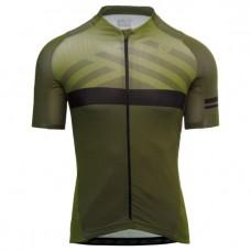 AGU SS Maze Trend Men Cycling Jersey Army Green