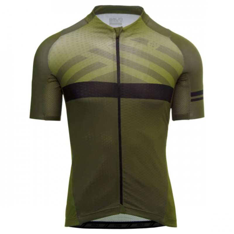 AGU SS Maze Trend Men Cycling Jersey Army Green