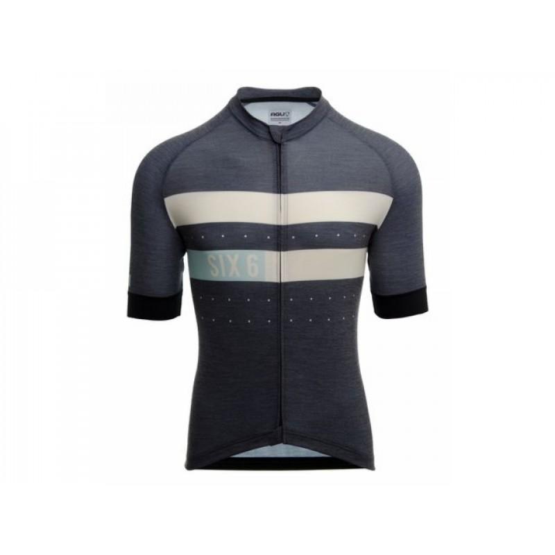 AGU SS SIX6 Merino Men Cycling Jersey Blue