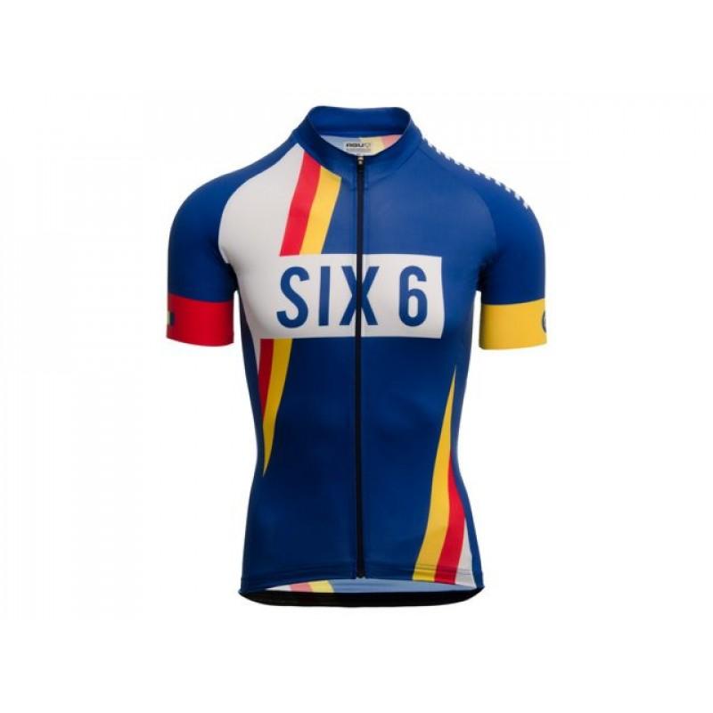 AGU SS SIX6 PNSC Men Cycling Jersey Rebel Blue