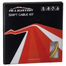 Alligator Bicycle Gear Cable Kit Super Light Sram/Shimano Black