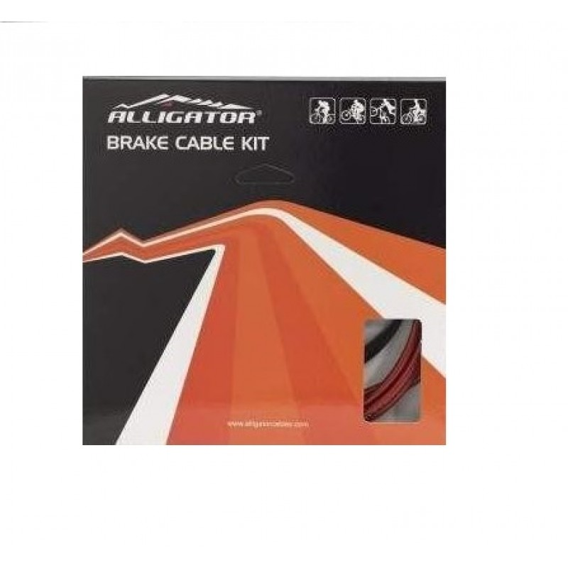 Alligator Bicycle Silver Star MTB Brake Cable Kit Black