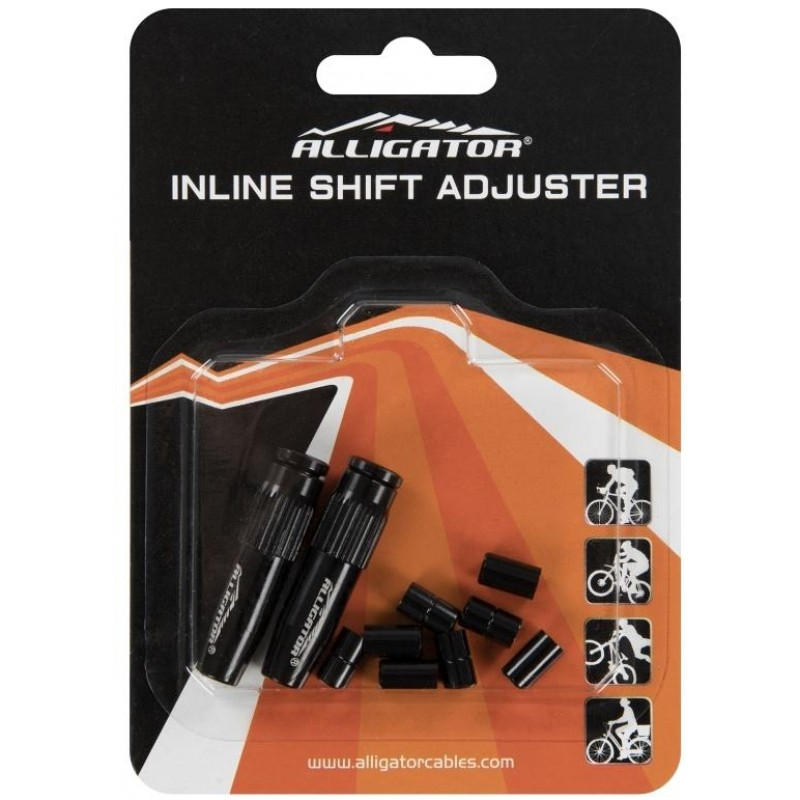 Alligator Bullet Inline Gear Housing Adjuster Black