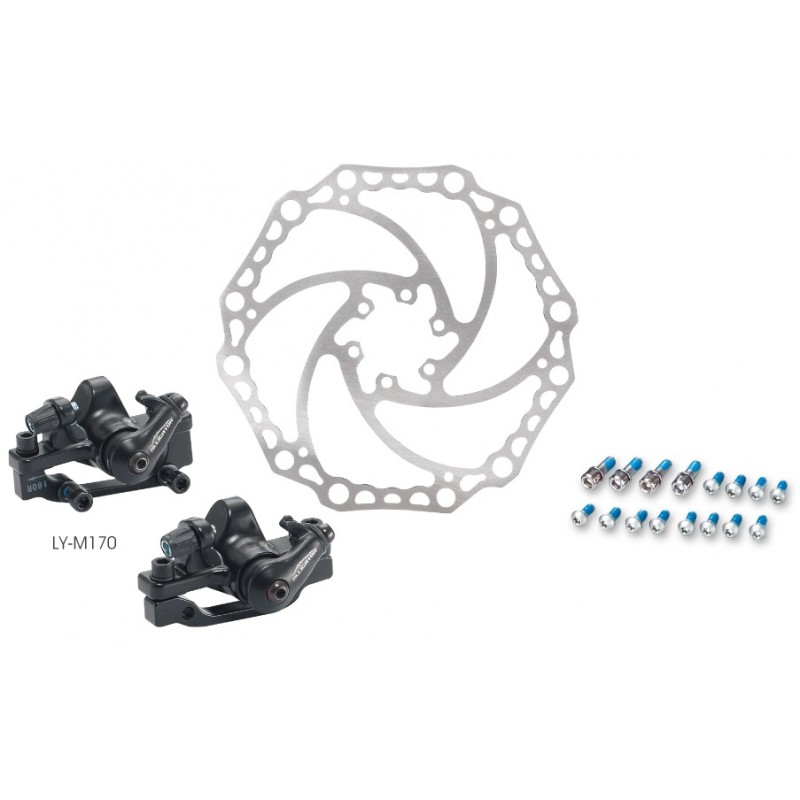 Alligator Mechanical Bicycle Disc Brake System, Front And Rear Set, LY-M170
