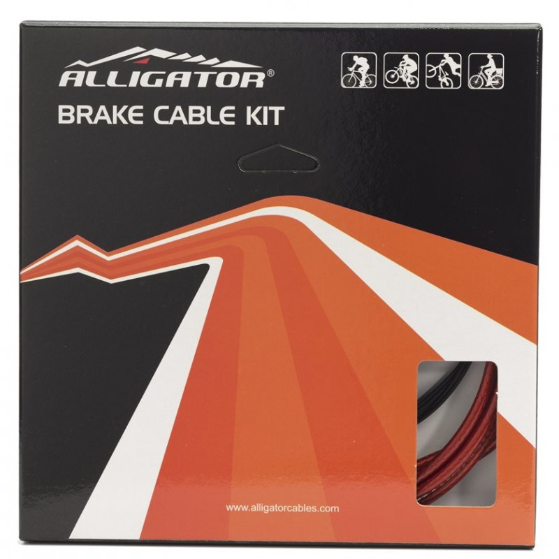 Alligator Reliable 2P Bicycle Brake Cable Kit Black, LY-ERKB
