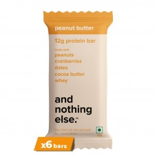 And Nothing Else 12g Protein Bar Peanut Butter Pack Of 6