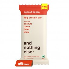 And Nothing Else 15g Protein Bar Peanut Cocoa Pack Of 6