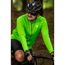 Apace Peloton Relax-Fit Mens Cycling Jersey Neon Green
