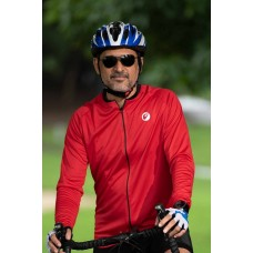 Apace Peloton Relax-Fit Mens Cycling Jersey Red