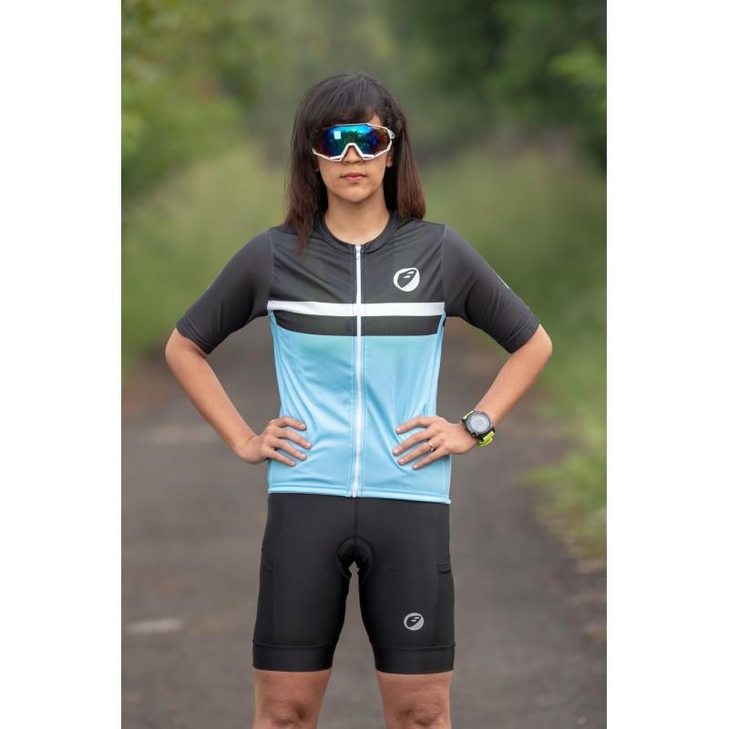 Apace Breakaway Snug-Fit Womens Cycling Jersey Skyfall