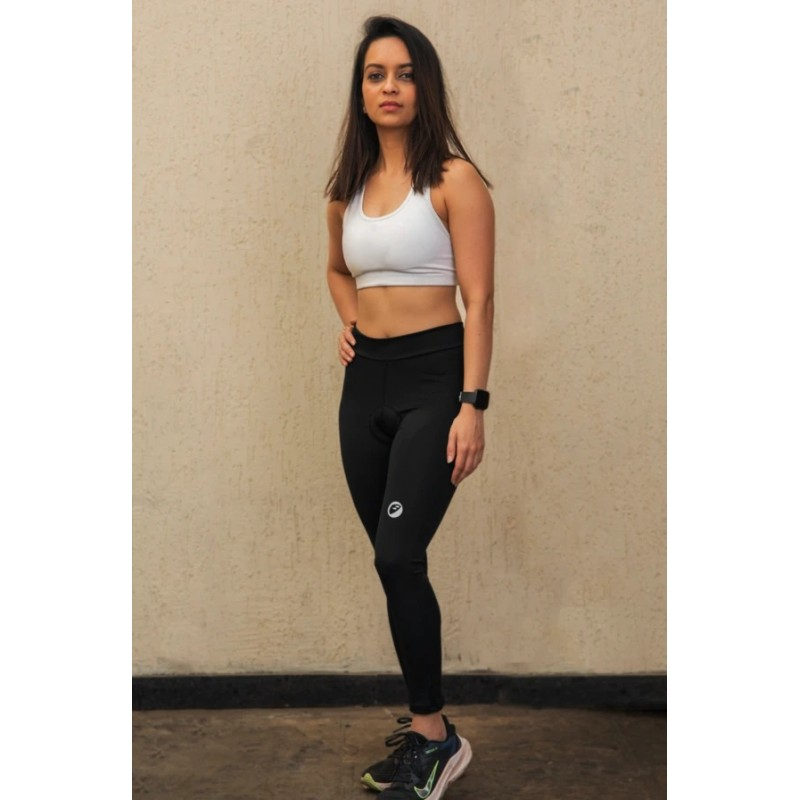 Apace Blade Full Tights Gel Padded Women Cycling Shorts Black