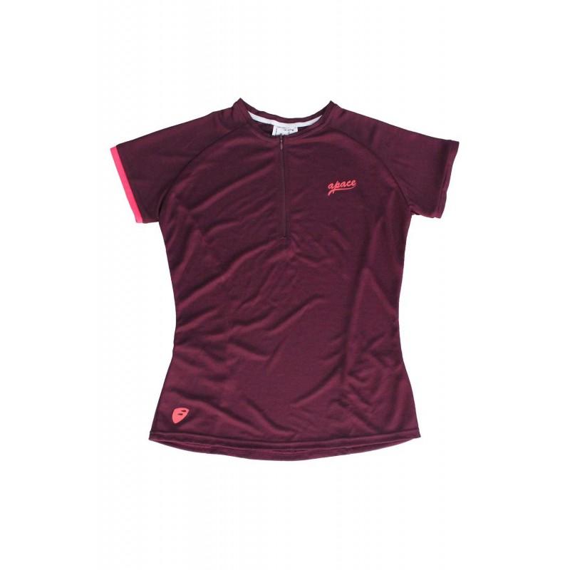 Apace 2019 Freewheel Womens Cycling Tshirt Aubergine