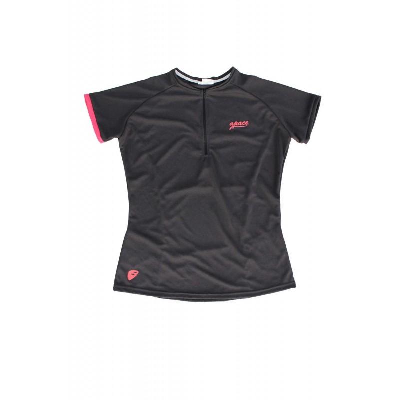 Apace 2019 Freewheel Womens Cycling Tshirt Coal Grey