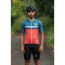 Apace Breakaway Snug-Fit Mens Cycling Jersey Fireglow