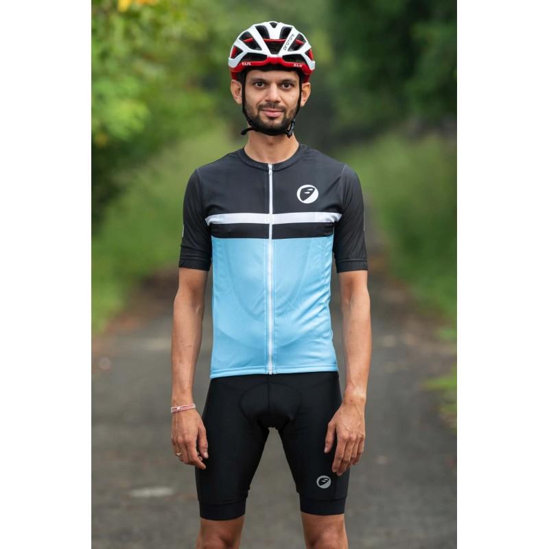 Apace Breakaway Snug-Fit Mens Cycling Jersey Skyfall