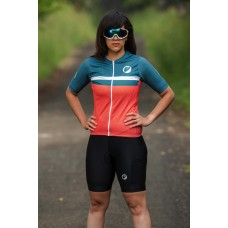 Apace Breakaway Snug-Fit Womens Cycling Jersey Fireglow
