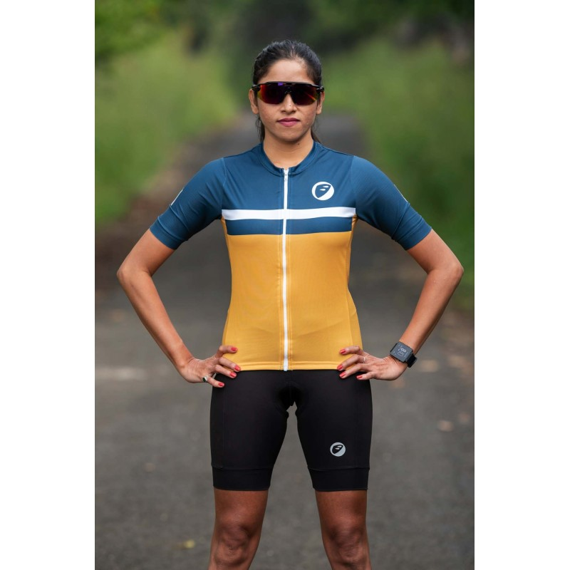 Apace Breakaway Snug-Fit Womens Cycling Jersey Sunbrust