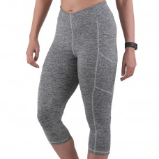 Apace Element Womens Capris Melange Light Grey