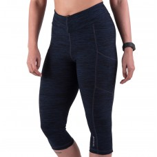 Apace Element Womens Capris Melange Navy Blue