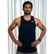 Apace Mens Running Singlet Lightweight Stride Navy