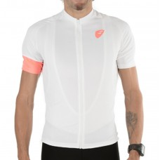 Apace Peleton Mens Cycling Jersey White
